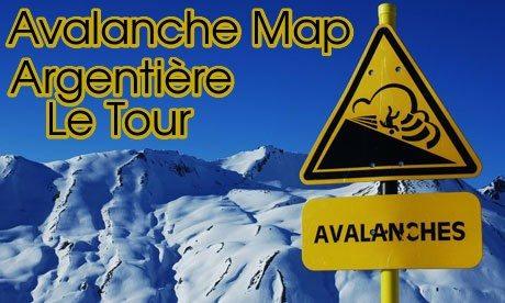 Avalanche map Agentiere Le Tour