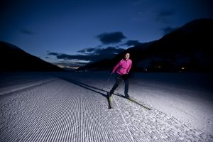 Night Time Cross Country Skiing
