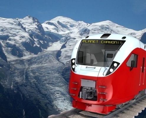 Leman Express New Alpine Train, Geneva To St Gervais, Mont Blanc