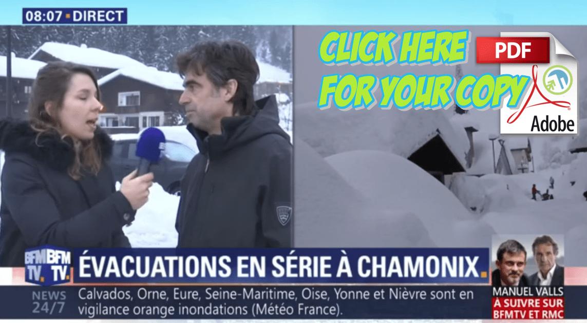 Chamonix Evacuated Extreme Weather Mont Blanc