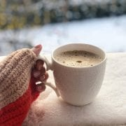 Enjoy a tasty hot chocolate whilst watching the snow fall...