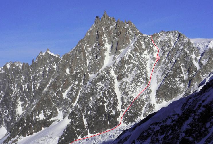 Cosmique Couloir Chamonix Mont Blanc