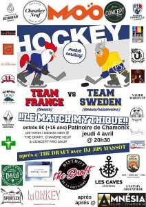 France Vs. Sweden annual ice hockey Planet Chamonix Events
