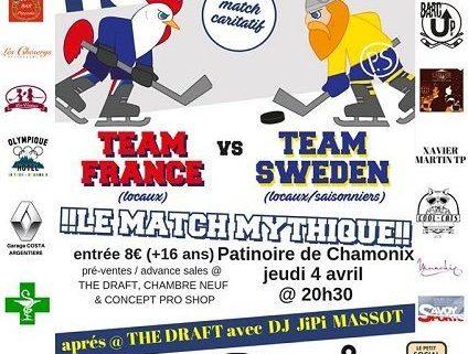 France Vs. Sweden annual ice hockey Planet Chamonix Events